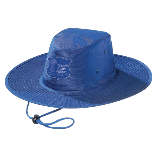 Wide Brimmed Hat Front View